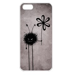 Evil Flower Bug Vintage Apple iPhone 5 Seamless Case (White)