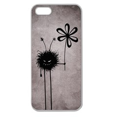 Evil Flower Bug Vintage Apple Seamless iPhone 5 Case (Clear)