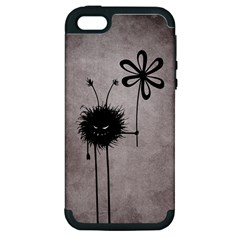 Evil Flower Bug Vintage Apple iPhone 5 Hardshell Case (PC+Silicone)