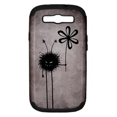 Evil Flower Bug Vintage Samsung Galaxy S III Hardshell Case (PC+Silicone)