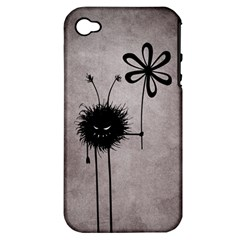 Evil Flower Bug Vintage Apple iPhone 4/4S Hardshell Case (PC+Silicone)