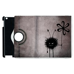 Evil Flower Bug Vintage Apple iPad 2 Flip 360 Case