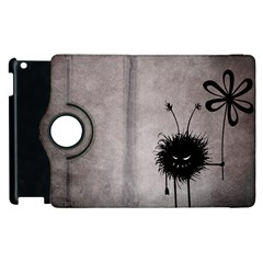 Evil Flower Bug Vintage Apple iPad 3/4 Flip 360 Case