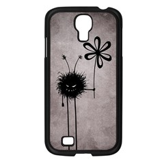 Evil Flower Bug Vintage Samsung Galaxy S4 I9500/ I9505 Case (Black)