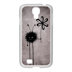 Evil Flower Bug Vintage Samsung Galaxy S4 I9500/ I9505 Case (white)