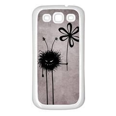 Evil Flower Bug Vintage Samsung Galaxy S3 Back Case (white)