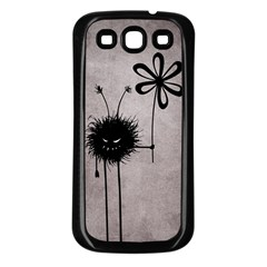 Evil Flower Bug Vintage Samsung Galaxy S3 Back Case (Black)