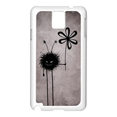 Evil Flower Bug Vintage Samsung Galaxy Note 3 N9005 Case (white)