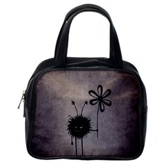 Evil Flower Bug Vintage Classic Handbag (One Side)