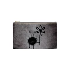 Evil Flower Bug Vintage Cosmetic Bag (Small)