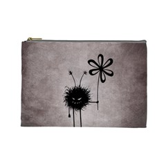 Evil Flower Bug Vintage Cosmetic Bag (Large)