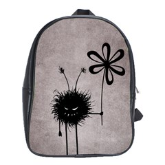 Evil Flower Bug Vintage School Bag (Large)