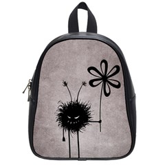 Evil Flower Bug Vintage School Bag (Small)