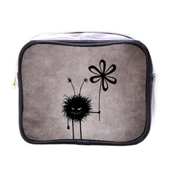 Evil Flower Bug Vintage Mini Travel Toiletry Bag (one Side)