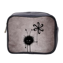 Evil Flower Bug Vintage Mini Travel Toiletry Bag (two Sides)