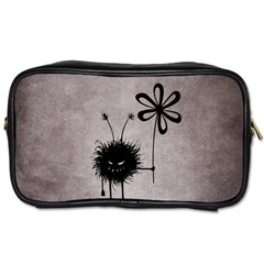 Evil Flower Bug Vintage Travel Toiletry Bag (Two Sides)