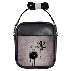 Evil Flower Bug Vintage Girl s Sling Bag