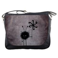 Evil Flower Bug Vintage Messenger Bag