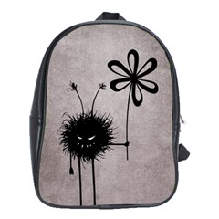 Evil Flower Bug Vintage School Bag (XL)