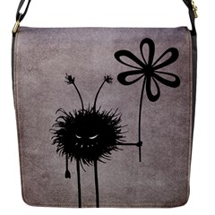 Evil Flower Bug Vintage Flap Closure Messenger Bag (Small)