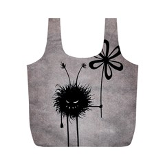 Evil Flower Bug Vintage Reusable Bag (M)