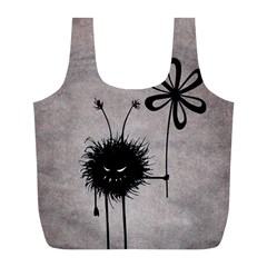 Evil Flower Bug Vintage Reusable Bag (L)