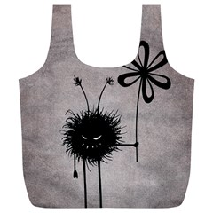 Evil Flower Bug Vintage Reusable Bag (XL)