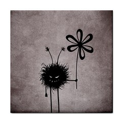 Evil Flower Bug Vintage Face Towel