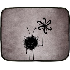 Evil Flower Bug Vintage Mini Fleece Blanket (Two Sided)
