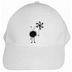 Evil Flower Bug White Baseball Cap