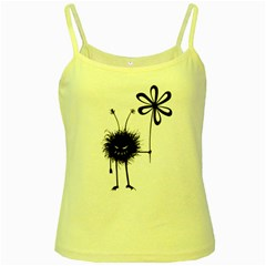 Evil Flower Bug Yellow Spaghetti Tank