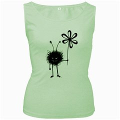 Evil Flower Bug Women s Tank Top (Green)