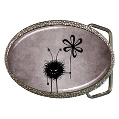 Evil Flower Bug Belt Buckle (Oval)