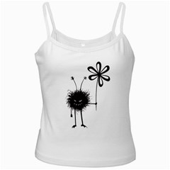 Evil Flower Bug White Spaghetti Top