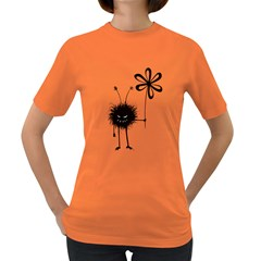 Evil Flower Bug Women s T-shirt (Colored)