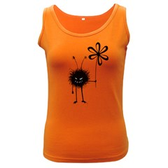 Evil Flower Bug Women s Tank Top (Dark Colored)