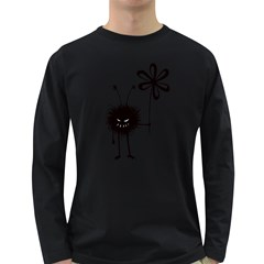Evil Flower Bug Men s Long Sleeve T-shirt (Dark Colored)