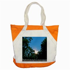 Coming Sunset Accented Edges Accent Tote Bag