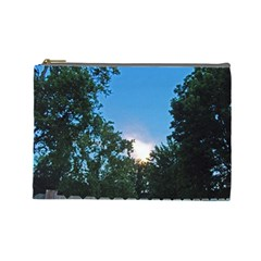Coming Sunset Accented Edges Cosmetic Bag (large)