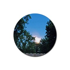 Coming Sunset Accented Edges Drink Coasters 4 Pack (round)