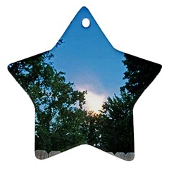 Coming Sunset Accented Edges Star Ornament (Two Sides)