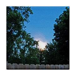 Coming Sunset Accented Edges Face Towel
