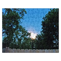 Coming Sunset Accented Edges Jigsaw Puzzle (Rectangle)