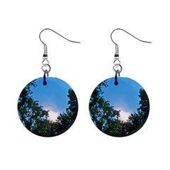 Coming Sunset Accented Edges Mini Button Earrings