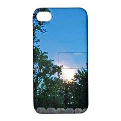 Coming Sunset Accented Edges Apple Iphone 4/4s Hardshell Case With Stand