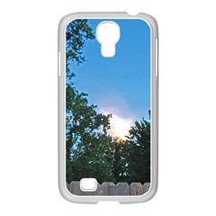 Coming Sunset Accented Edges Samsung GALAXY S4 I9500/ I9505 Case (White)