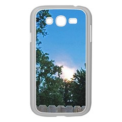 Coming Sunset Accented Edges Samsung Galaxy Grand DUOS I9082 Case (White)