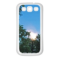 Coming Sunset Accented Edges Samsung Galaxy S3 Back Case (White)