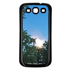 Coming Sunset Accented Edges Samsung Galaxy S3 Back Case (black)