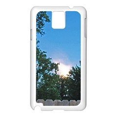 Coming Sunset Accented Edges Samsung Galaxy Note 3 N9005 Case (white)